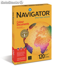 Paquete folios papel A4 120 gr alta calidad navigator colour documents