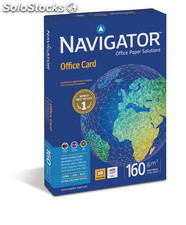 Paquete folios papel A4 160 gr alta calidad navigator office card