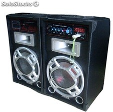 Par Bafle amplificado Usb-sd-mic-aux 10´´ Mp3 Karaoke rms 40w*2 ma10
