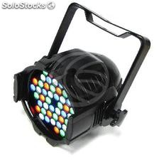 PAR64 led Spotlight 3W de 48 preto (XG12)
