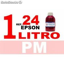 Para cartuchos Epson 24 xl botella 1 l tinta compatible magenta photo