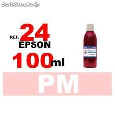 Para cartuchos Epson 24 xl botella 100 ml. tinta compatible magenta