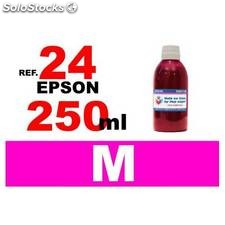 Para cartuchos Epson 24 xl botella 250 ml. tinta compatible magenta
