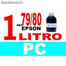 Para cartuchos Epson 79 y 80 botella 1 l tinta compatible cian photo