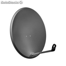 parabola satellitare in alluminio da 65 cm antracite 67331