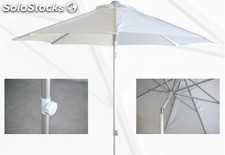Parasol aluminio inclinable push-up lona natural 250cm