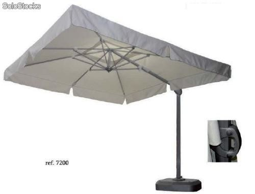 parasol en aluminium avec m canisme tournant parasol electra. Black Bedroom Furniture Sets. Home Design Ideas