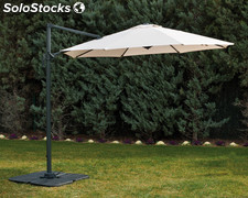 Parasol lateral multiposic. Profer green 3 m