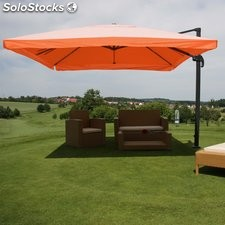 Parasol Sombrilla GIRATORIA APOLO, de 3 x 4 metros, color Terracota, Ajustable,