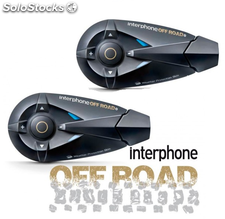 Pareja Intercom moto Interphone F5 Offroad TwinPack