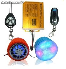 parlante de moto alarma vehículo anti-robo MP3 USB FM radio MP3-08