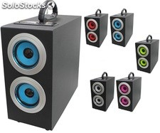 parlante portatil 1.1ch subwoofer recargable usb sd Fm led pantalla s03