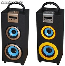 parlante portatil 1.1ch subwoofer recargable usb sd Fm led pantalla s04