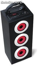 parlante portatil 2.1ch subwoofer recargable usb sd Fm led pandalla s10