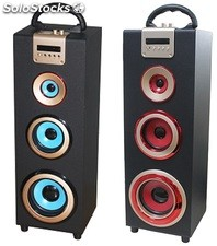 parlante portatil 2.1ch subwoofer recargable usb sd Fm led pantalla s05