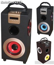 parlante portatil 2.1ch subwoofer recargable usb sd Fm led pantalla s09