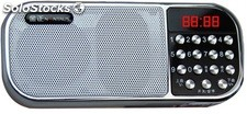 parlante portatil mini speaker MP3 USB TF FM radio bateria recargable Q22