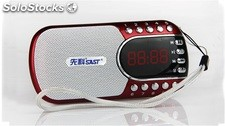 parlante portatil mini speaker MP3 USB TF FM radio bateria recargable Q29