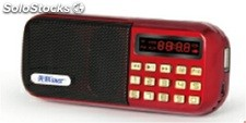 parlante portatil MP3 USD TF FM radio bateria recargable Q25