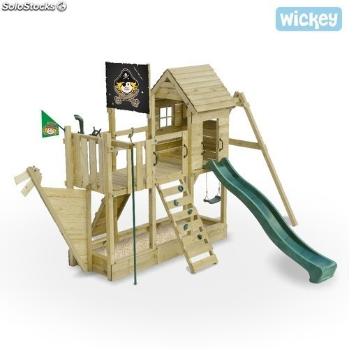 Parque infantil Wickey Bluebeard's Ship Columpio Tobogan