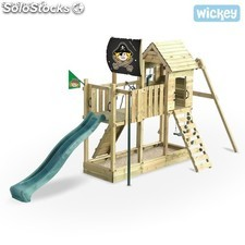 Parque infantil Wickey Captain Hook's Ship Columpio Tobogan