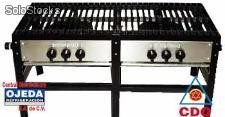 Parrilla doble fogon modelo f-2 international