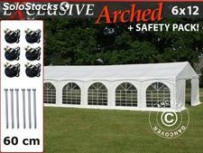 "Partyzelt Exclusive 6x12m PVC, ""Arched"", Weiß"