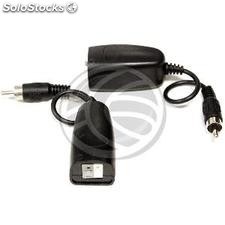 Passive Balun with RCA audio cable 2 twisted pair terminals - 2 units (SK09)