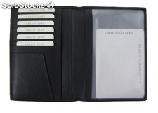 Passport Case Black Cowhide Nappa