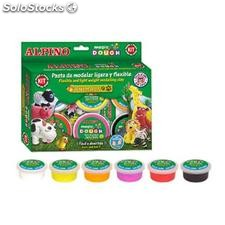 ✅ pasta alpino para modelar magic dough animals caja de 6 colores de 40 gr