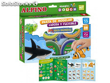 Pasta alpino para modelar magic dough sea world caja de 6 colores de 40 gr