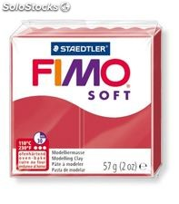 Pasta moldear rojo fimo soft staedtler 8020-26