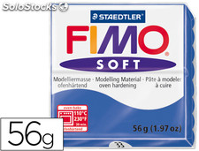 Pasta staedtler fimo soft 56 gr color azul brillante