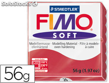 Pasta staedtler fimo soft 56 gr color rojo cereza