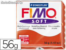 Pasta staedtler fimo soft 56 gr color rojo indian