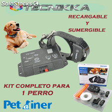 Pastor electrico petainer PET803 con collar recargable y sumergible