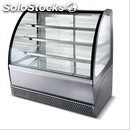 Pastry display-mod. metro ' lx-curved tempered glass panes that open