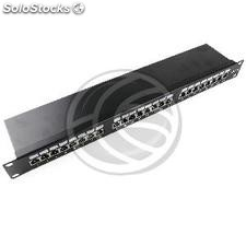Patch panel 1U 24 RJ45 Cat.5e ftp black (RC43-0002)