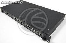Patch panel 1U 24 RJ45 Cat.5e FTP in removable drawer black (RC49)