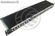 Patch panel 1U 24 RJ45 Cat.6 ftp black (RD44)