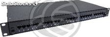 Patch panel 1U 25 Cat.3 RJ45 (8p4c) black on pull-out drawer (RT78)