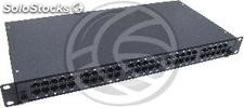 Patch panel 1U 50 Cat.3 RJ45 (8p4c) black on pull-out drawer (RT79)