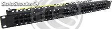 Patch panel 1U 50 Cat.3 RJ45 (8p4c) black (RT77)