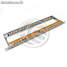 Patch panel 24 RJ45 Cat.6 UTP 0.5U metal con peine ordenacables (RD39-0002)