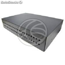 Patch panel 2U fibra preto pull-out de 48 FC (FQ24)