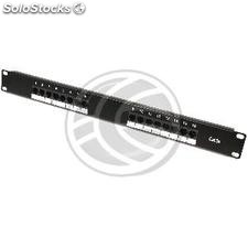 Patch panel de 16 RJ45 Cat.5e utp 1U negro (RC45-0002)