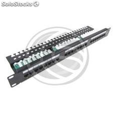 Patch panel de 24 RJ45 Cat.5e UTP 1U negro con peine (RC40)