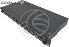 Patch panel de 24 RJ45 Cat.5e UTP 1U negro en cajón extraible (RC48)