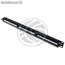 Patch panel de 24 RJ45 Cat.5e utp 1U negro (RC41-0002)