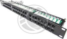 Patch panel de 48 RJ45 Cat.5e utp 1U negro (RC47)